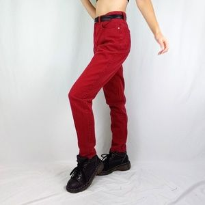 90's high waist red jeans
